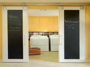 Installing-the-New-Laundry-Room-Doors-with-black-and-white